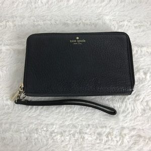 Kate Spade Double Zip Black Wallet and Wristlet